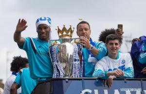 DROGBA WITH TROPHY